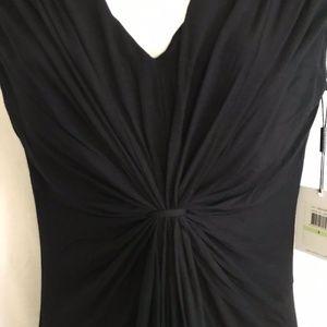 NWT Calvin Klein Black V Neck Shift Dress